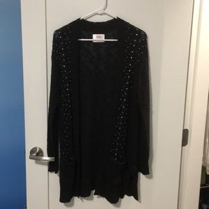 Black knit Justice long sleeve sweater